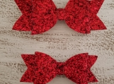 Red Hot Glitter Bow