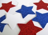 Red white and blue star confetti