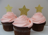 Star Cupcake Toppers. Baby Shower Decorations