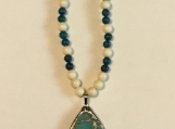 Teal Crackle Necklace