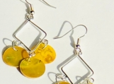 Triangle Mussel Shell Earrings