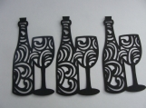 Wine Bottle Die Cuts