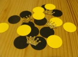 Yellow and Black confetti, crown die cuts