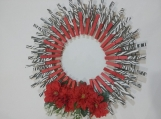 142 Zebra Print Clothespins Wreath Decor