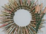 145 Doilies Clothespins Wreath Decor