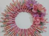 146 Tie Dye Clothespins Wreath Decor