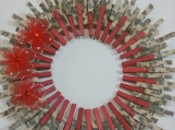 147 Real Life Leopard Clothespins Wreath Decor