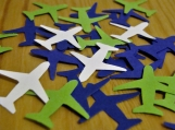 Airplane confetti, birthday confetti, scrapbooking