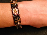 black and white floral Indian bangle