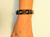 Black red Art nouveau style bangle | kundan | meenakari | jadau