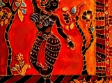 cloisonne style Indian dancer painting