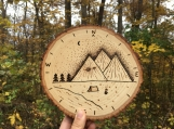 Compass Wood Signs,Woodland Wall Signs,Mountain Scene Decor