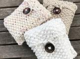 Cotton Soap Bag, Eco-friendly Soap Saver, Hand Knit Soap Bag