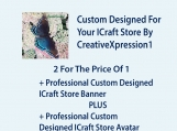 Custom iCraft Banner & Avatar -2 For Price Of 1
