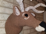 Deer Head Mount 3D crochet handcrafted life size look real man c
