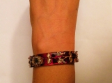 double side painted -Indian cuff bangle / bracelet - meenakari enamel