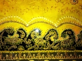 exotic Indian art with Mughal and Rajasthani motif-lacquer finish-oil, acrylic, 6x8 canvas