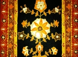 exotic Indian art with Mughal and Rajasthani motifs-lacquer finish-acrylic canvas 5x7