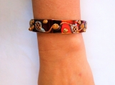 French Open Hand painted tennis cuff bracelet