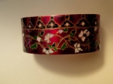Hand painted red brass Indian bangle