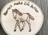 Horse Decor, Wood Horse Magnet, Horse Lovers Gift,Wood Burned