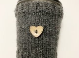 Hot Beverage Cozy, To Go Cup Cozy, Tea/Coffee Hand Knit Cozy