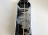Incense holder, white & black