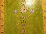 Indian art with Mughal and Rajasthani motifs - Acrylic and oil on 14x18 in. canvasboard