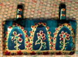 Indian-Mughal-Rajasthani motifs hand painted glass pendant