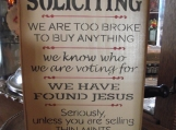 No Soliciting  primitive wood sign, wooden signs