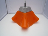 Pendant light, orange, fused glass