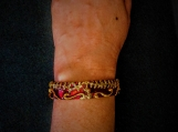 red Indian motif bangle