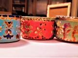 Set of 3 Art Deco design tea light candle holders   Diwali Christmas wedding festive