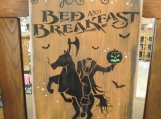 Sleepy Hollow B & B  primitive wood sign Halloween