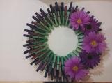 Spring 104 Clothespins Wreath Decor