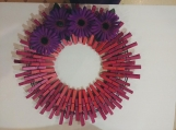 Spring 106 Clothespins Wreath Decor