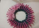 Spring 105 Clothespins Wreath Decor