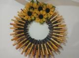 Spring 107 Clothespins Wreath Decor