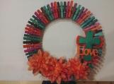 Spring 108 Clothespins Wreath Decor