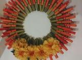 Spring 109 Clothespins Wreath Decor