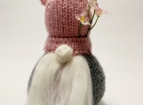 Springtime Gnome, Hand Knit Gnome, Easter Decoration, Handmade