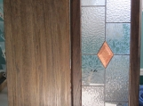 Stained glass lead copper panel, clear