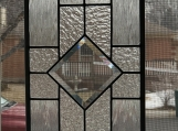 Stained glass lead panel, clear