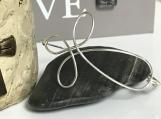 Sterling Silver-Fill Wire Cross Bracelet - Single Wire Bangle