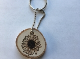 Sunflower Keychain,Sunflower Decor,Gifts for Mom,Wooden Keychain