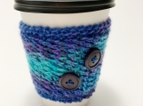 Takeout Beverage Cozy, Hot Beverage Cozy, To Go Hand Knit Cozy