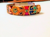 Tehzib pattern bangle | art nouveau | cloisonne