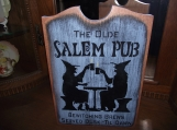 The Olde Salem Pub  primitive wood sign Halloween
