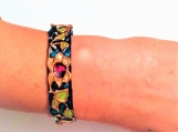 turquoise textured Indian Mughal design painted bangle
