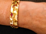 white bridal Indian wedding bangle